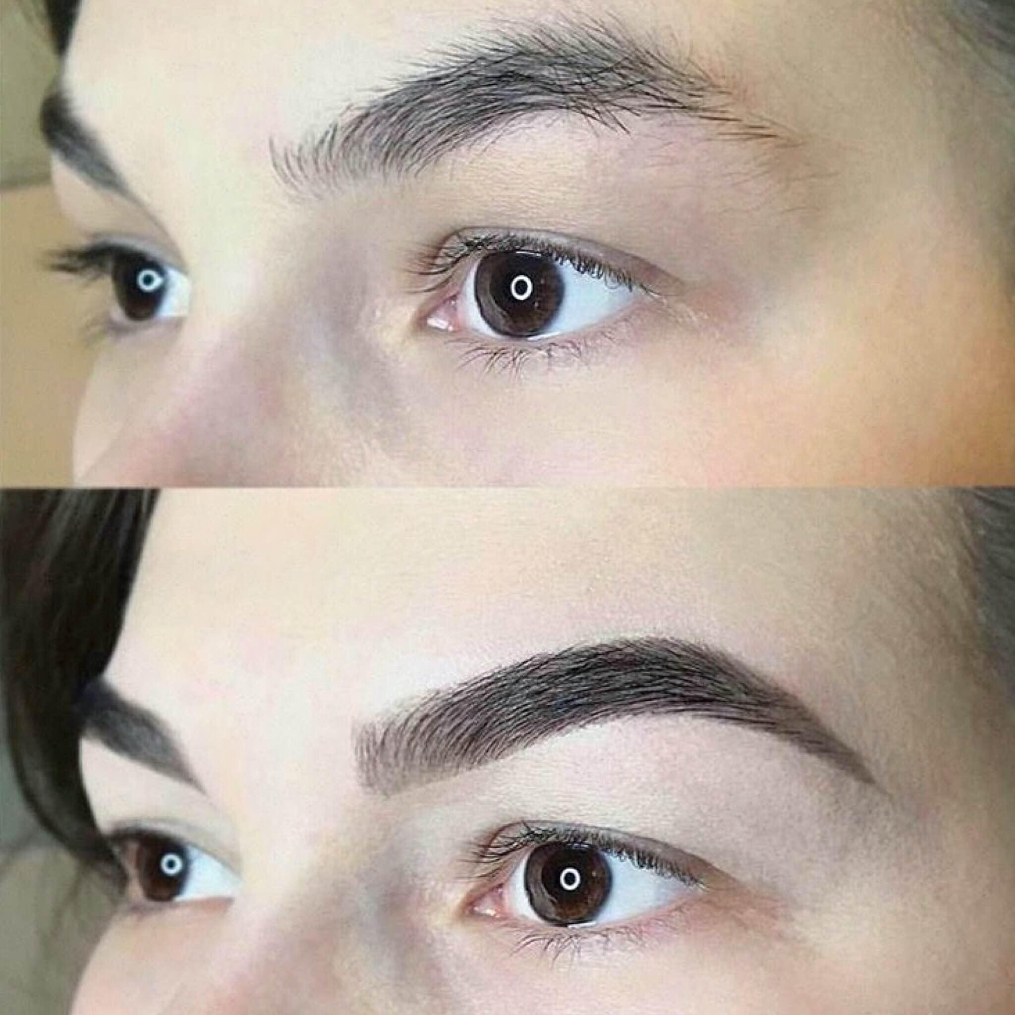 художественное оформление бровей фото до и после что